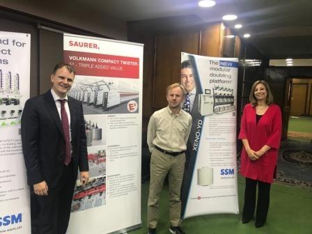 تضمنت عرض منتجات أكبر شركتين في العالم عرض احدث ماكينات صناعة الغزول في ندوة لشركة نوبلتكس