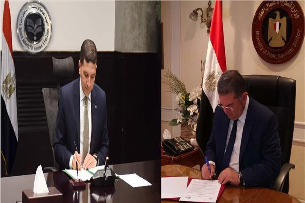 وزارة قطاع الأعمال وهيئة الاستثمار توقعان بروتوكول كتالوج المنتجات المصرية