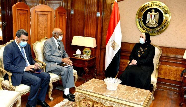 وزيرة الصناعة: حريصون على المساهمة فى إعادة تشغيل المصانع السودانية المغلقة