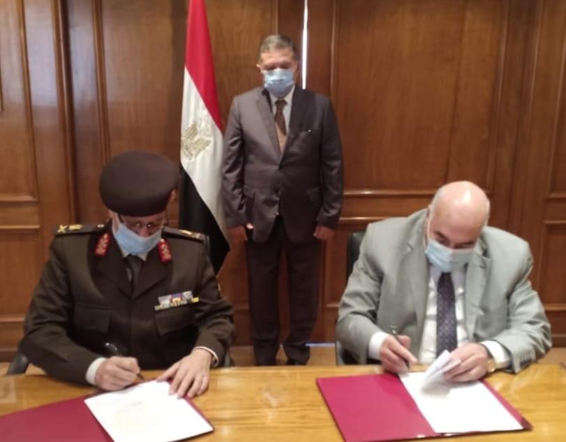 قطاع الأعمال وقع بروتوكولات تعاون مع القوات المسلحة لاستغلال 238 فدانا بمحور المحمودية